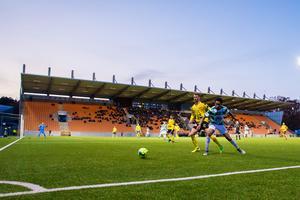 På lördag spelar VSK årets första match på Solid Park Arena, en träningsmatch mot Dalkurd. Då kommer inte kontanter längre accepteras i bland annat kioskerna. Foto: Bildbyrån