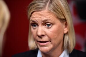 Finansminister Magdalena Andersson. Bild: Erik Simander / TT