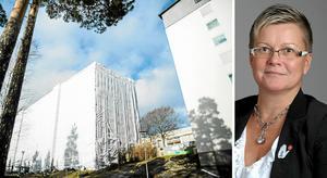 Telge bostäders renovering i Fornhöjden har spräckt alla budgetramar. Ingela Nylund Watz (S) är bolagets ordförande .
