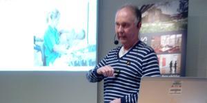 Lars Karlsson föreläste om hjärtsvikt.