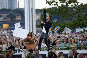 Måns Zelmerlöw bjöd publiken på årets vinnare av Eurovision song contest: