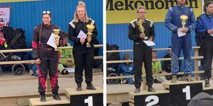 Fina framgångar för härjedalingarna Amanda Hedälv, som tog segern i damklassen och Junior Holmin, som plockade andraplatsen i herrklassen i Krokom tredagars.