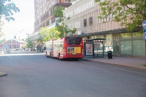 Buss på Köpmangatan.