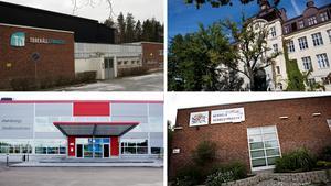 Södertäljes fyra kommunala gymnasieskolor: Torekällgymnasiet, Täljegymnasiet, Morabergs studiecentrum och Wendela Hebbe-gymnasiet.