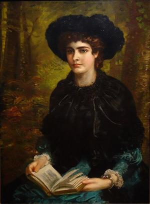 Oscar Wildes hustru Constance Wilde 1882. Målning av Louis William Desanges.