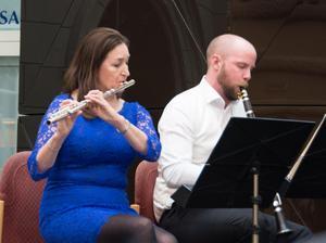 Maria Garlöv, flöjt, och Mattias Larsson, klarinett.