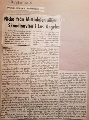 Den 2 september 1976 berättade Tidningen Härjedalen att en