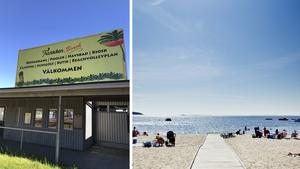 Tranviken har gått från att vara ett härligt havsbad till en övergiven strand med kommunistlandskänsla, menar skribenten. Bilder: Privat / Carolina Wahlberg