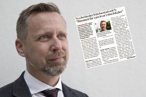 Patrik Isestad backar inte från sitt och Socialdemokraternas löfte om att Binomen ska få vara kvar i sina befintliga lokaler.  Foto: Kristina Laitinen /faksimil
