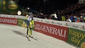 André Myhrer fick inte till någon fullträff under torsdagens slalomtävling i Zagreb. Bild: SVT.