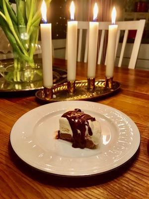 Cheesecake på julens överblivna kakor och godis. Foto: Sanna Westling.