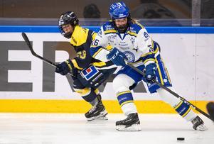 Med tolv mål och två assist toppade Tuva Kandell, till vardags i Leksand, poängligan i TV-puckens grupp B i helgen. Foto: Daniel Eriksson/Bildbyrån