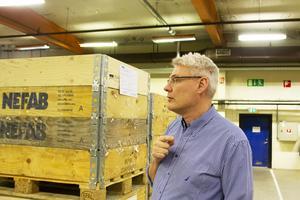 Ulf Bäremo, produktionsledare och platschef vid Nefab i Runemo.