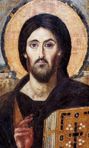 Kristus frälsaren, ikon från 500-talet i Katarinaklostret, kristenhetens äldsta kloster i Sinai i Egypten.