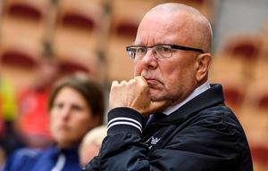 Leif Boork berättar att Damkronorna kommer fokusera på att förbättra PP-spelet. Foto: Peter Skaugvold / BILDBYRÅN.