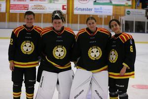 Hälsingekvartetten Fanny Brolin, Ellen Jonsson, Agnes Åker och Miriam El-Mahmadi.