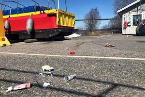 Föreningen har haft problem med skadegörelse runt räddningsstationen i Alvik. Bilden togs förra våren. Bild: Sjöräddningssällskapet