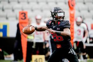 Örebro Black Knights qb Raleigh Yeldell.