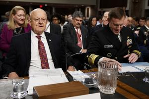 Nationella underrättelsechefen James Clapper och NSA-chefen Michael Roger frågas ut i senaten.