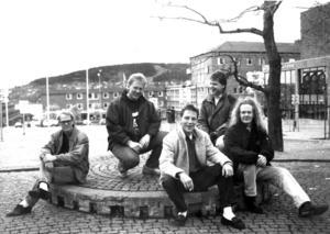 Backstreet Blue 1989. Medlemmar var Sigge Kron, trummor, Torgny Österlund, bas, Morgan Eklöv, sång, Leif Carlsson, gitarr och Mats Norberg, gitarr. Foto: ÖP:s arkiv