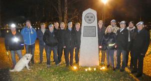 FN-veteranerna i kamratföreningen Z-bataljonen samlades på FN-dagen i Badhusparken, Östersund. Foto: Stig-Björn Sundell