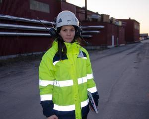 Anna Schöström, platschef vid SCA Wood.