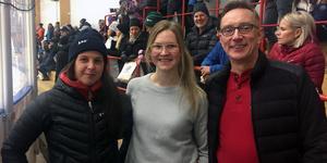 Sanna Bergström, Maja Bohlin och Magnus Persson höll i arrangemanget kring sponsormatchen mot Brunflo.