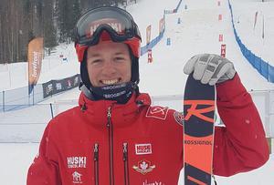 Anton Axellie efter fjärdeplatsen i puckelpist-SM. Foto: Clara Månsson