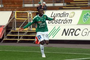 Christian Kouakou  fick jubla över tre nya poäng till IK Brage.
