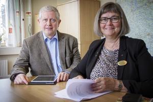 Förbundschef Thomas Winqvist och direktionens ordförande Åsa Äng Eriksson (M).