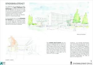 Arkitektgruppens förslag till nytt Stadsbibliotek som Marita Wallhagen var med och tog fram.