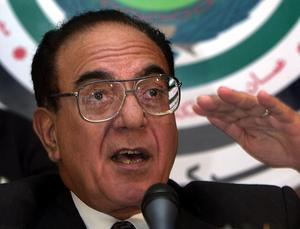 Mohammed Said as-Sahaf, alias Bagdad-Bob,  var Iraks informationsminister när USA anföll Irak  våren 2003. Foto: Hussein Malla/AP Photo