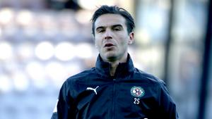 Nordin Gerzic tränade in på torsdagen. ÖSK-kaptenen är därmed osäkert startande mot GIF Sundsvall på lördag.
