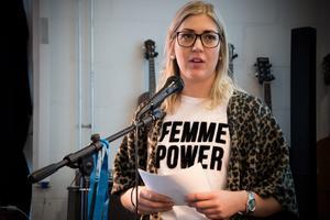 Grahm höll ett föredrag på Sliperiet i Örnsköldsvik under Internationella kvinnodagen i år.