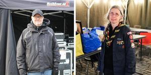 Mikael Gottberg och Mimmi Kimstål jobbar med förberedelser inför Musikhjälpen.