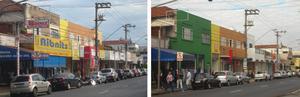 Före och efter reklamskyltsförbudet i São Paulo 2006.Foto: Marcelo Palinkas