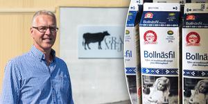 Staffan Eklöv, mejerichef för Grådö mejeri, glädjs över att Bollnäsfilen nu återvänder till Dalarna.