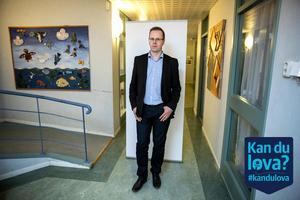 """""""Jag är beslutsam och kan fatta tuffa beslut och det är vad Ludvika behöver. Samtidigt är en av mina svagheter att jag är för snäll"""", säger Håge Persson."""