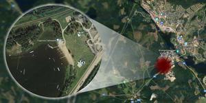 Här vid sjön Eskiln ska olyckan ha inträffat. Foto: Google maps. Grafik: Terese Westberg Sunesson