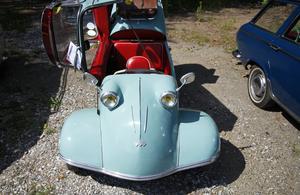 Denna Messerschmitt drog många blickar till sig.
