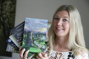 Hanna Blixt har hittills gjort klart fem böcker om Sagofallen och det är redan nu bestämt att nummer sju ska bli den sista.