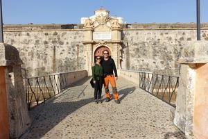 """Fästningen Forte da Graca i Portugal var en fantastisk upplevelse. """"Vi åkte tillbaka dagen efter och tittade på allting igen"""". (Privat bild)"""