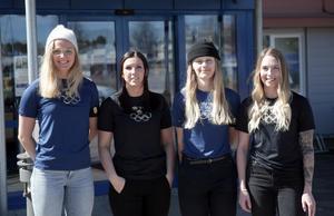 Malung-Sälens OS-stjärnor: Stina Nilsson, Elin Lundberg, Jennie-Lee Burmansson och Sofia Mabergs.