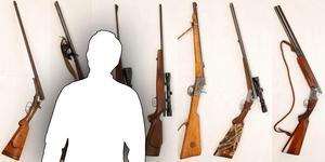 Peters sju gevär stals vid ett inbrott i september. Bild: Polisen