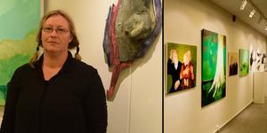 Det utländska konstnärsparets utställning i kommunhuset går att se fram till den 27 augusti.