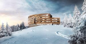 Illustration: Whyte Lilja ArkitekterSå här kommer nya Ullådalsstugan som ska börja byggas i vår att se ut.