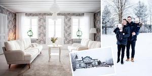 När hon blev gravid insåg de att det var dags att gå från lägenhet till villa. Efter att nästan ha köpt en enplanshus dök drömvillan upp. En björkallé leder Sofia Collén och Patrik Söderholm hem i Västerflo.