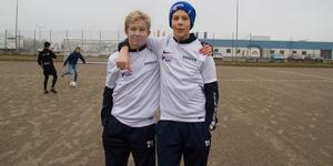 Anton Persson och Albin Ruuska i årskurs åtta tror de kommer att få nytta av planen under sina idrottsprofiltimmar.