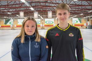 Lisa Norrlander och Emil Markusson spelar båda i elitserien för Östersunds curlingklubb.