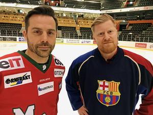 Två av spindlarna i helgens veteranhockeynät är Urban Omark och Jonas